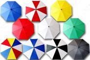 Профессиональные зонтики с прямым куполом (46 см)