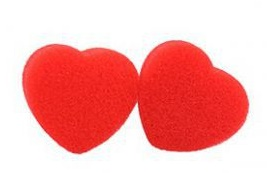 Губки (спонджи) 2 маленьких сердца