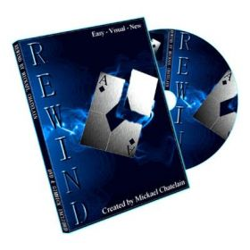 Rewind (Gimmick and DVD, BLUE) by Mickael Chatelain
